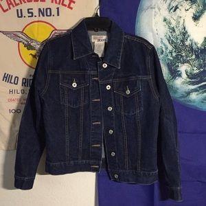 Dark washed Jean jacket!